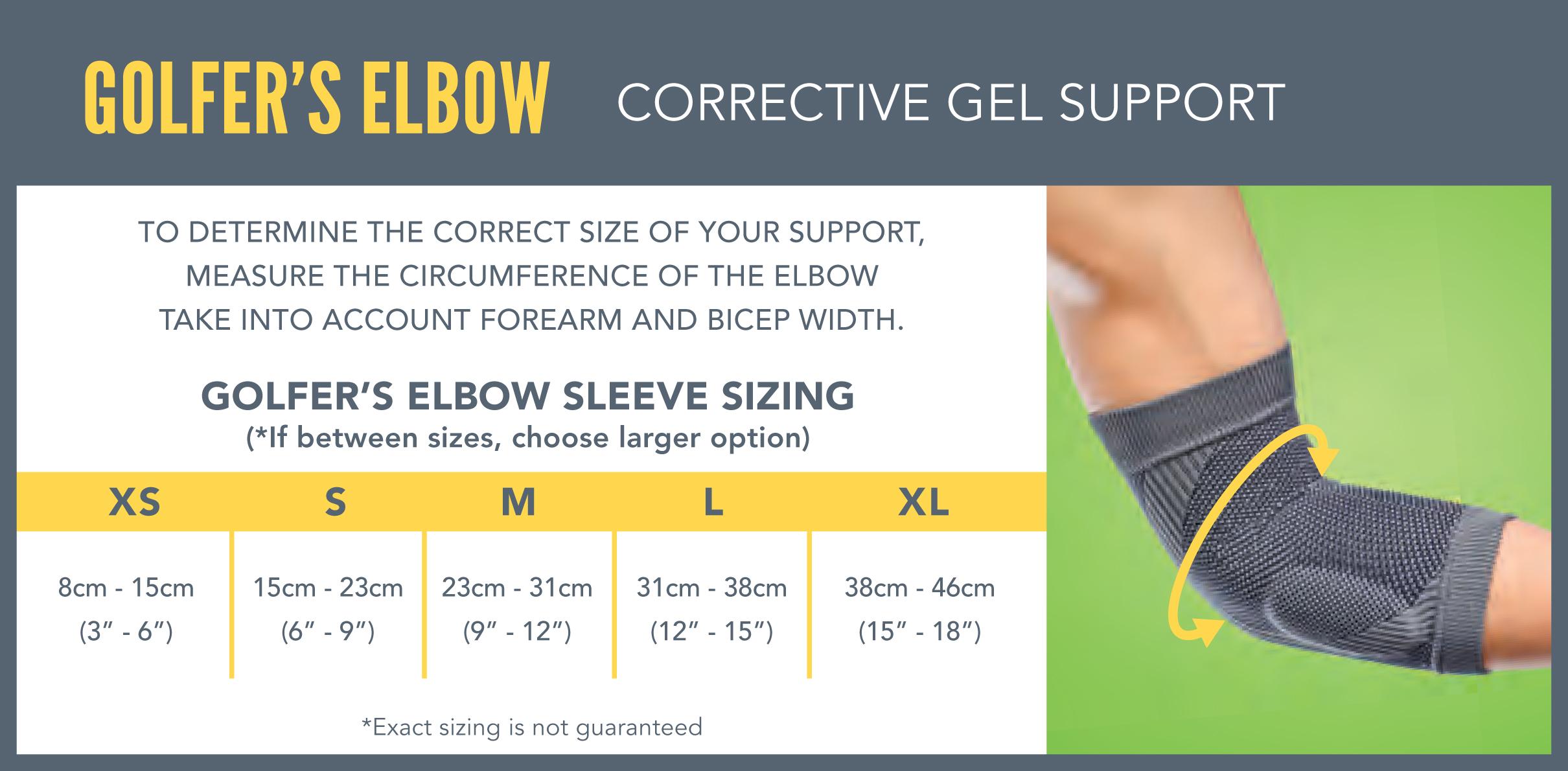 Elbow golfers brace how to wear